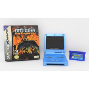 Retroconsole Nintendo Game Boy Advance AGS 101 + Batman e Pokemon versione zaffiro GBA SP System retrogames game & watch