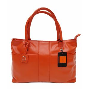 Borsa a spalla Giorgio Fedon 1919 color arancio da donna woman in pelle leather