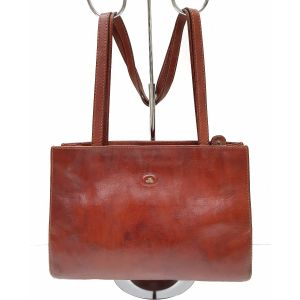 Borsa a spalla The Bridge vintage marrone in pelle da donna woman leather
