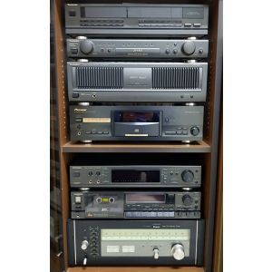 Impianto HiFi Vintage Tuner Sansui TU-9900 Deck Technics RS-B100 Sound Processor Technics SH-GE90 Compact Disc player PD-S707 Amplifier Technics SE-A800SM2 Stero Control Amplifier SU-C800UM2 Equalizer SH-GE70 all system sound