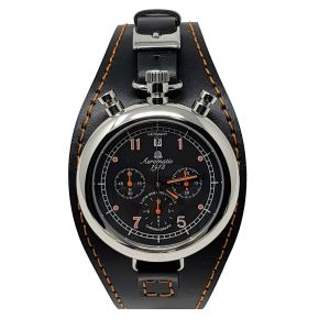 Orologio Aeromatic 1912 Referenza A1341 watch wristwatch style clock bullhead all stainless steel 40 mm military watch