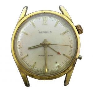 Orologio Benrus mechanic 17 jewels calibro DS 1D Wrist watch Wrist alarm clock  anni 60 for spare parts