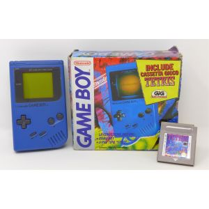 Retroconsole Nintendo Game Boy Blu + gioco Tetris retrogames console portable Handheld Game & Watch