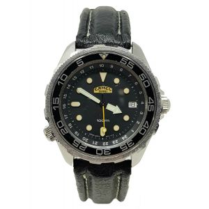 Orologio Camel Trophy Black Cad referenza 1446-001 watch diver vintage clock diving all stainless steel 35 mm style submariner
