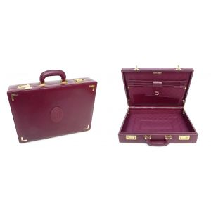 Borsa 24 ore Cartier linea must unisex porta documenti in pelle modello vintage suitcase valise must de cartier