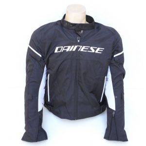 Dainese D-Frame Tex jacket black white Taglia 50 giubotto moto New