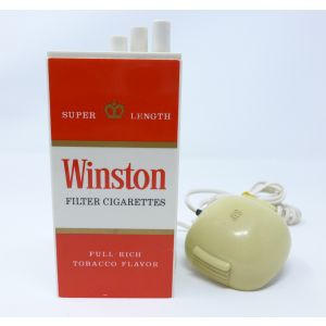 Telefono Winston a forma di pacchetto di sigarette vintage rare phone packet of cigarettes telephone from modernism
