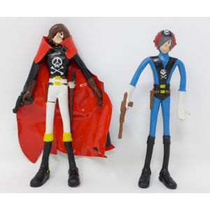 Capitan harlock flexible action figure flexy tadashi anni 70 vintage gashapon figure