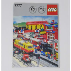 Book Lego 7777 train treni lego idee per costuruzioni di diversi modelli libro lego 7777 Train Track Layout Template 1:13 Scale