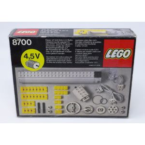 Lego 8700 technic motore 4,5 V con controllo e accessori vintage 1982 lego engine 8700 first version