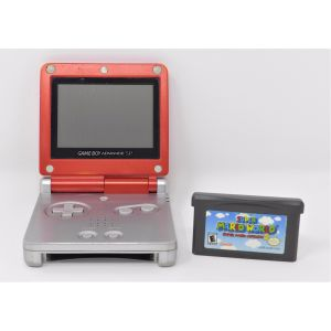 Retroconsole Nintendo Game Boy Advance SP Limited Mario edition + gioco super mario advance 2 console retrogame