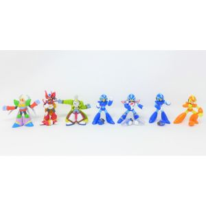 Lotto action figures Mega Man capcom by bandai 1995 gashapon rubber puppets 5/6 cm rockman megaman