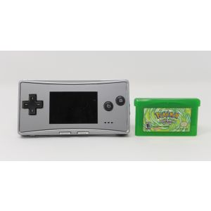Retroconsole Nintendo Game Boy Pocket Nintendo Game Boy Micro Silver + Pokemon Leaf Green Version Retrogames portable
