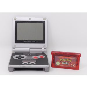 Retroconsole Nintendo Game Boy Advance SP Nes Limited edition + gioco Pokemon versione rubino console retrogame