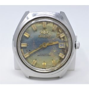 Orologio Orient mechanical watch caliber 205 vintage stainless steel clock 40 mm for spare parts ref 0S203A157