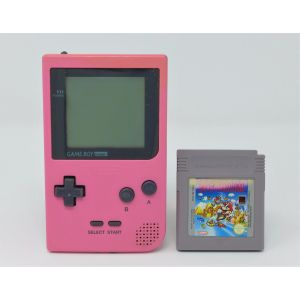 Retroconsole Nintendo Game Boy Pocket rosa + gioco super mario land retrogames game console