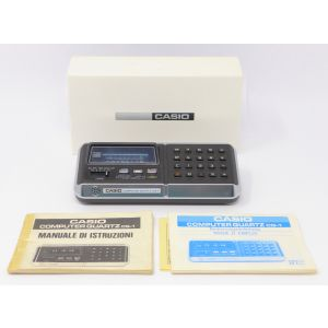 Calcolatore Casio CQ-1 Computer Quartz calculator and clock anni 70