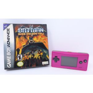 Retroconsole Nintendo Game Boy Pocket Nintendo Game Boy Micro Pink Magenta + Batman Rise Of Sin Tzu Retrogames portable