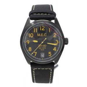 Orologio Mec military SH-3D Big Date watch sub 100 metri clock in acciaio