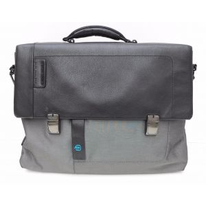 Borsa cartella Piquadro porta PC con tasca frontale, scomparto per iPad®Air/Pro 9,7 business