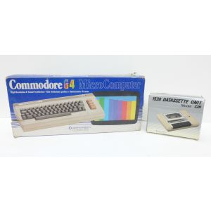 Retrocomputer Retroconsole Commodore 64 con 1530 Datasette Unit C2N retrogame boxed