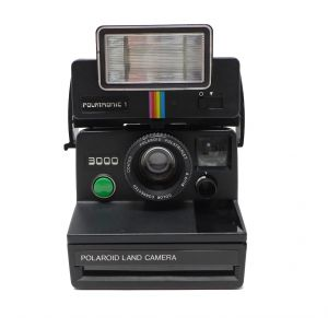 Macchina fotografica Polaroid 3000 Real focus camera serie sx 70 con flash Polatronic 1 instant land camera polaroid green button