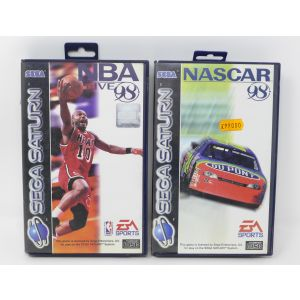 Retrogames for sega saturn NBA live 98 + Nascar 98 for retroconsole vintage game console