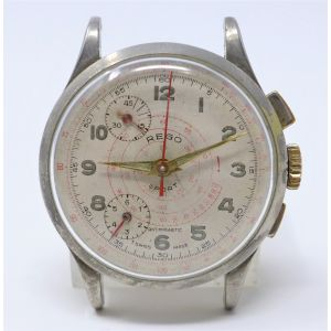 Orologio Rego Sport 550 Mechanical clock Swiss Made R Lapanouse S.A. Chronograph 37 mm Wrist Watch glow clock vintage
