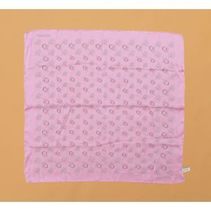 Foulard Chanel seta silk rosa da donna woman
