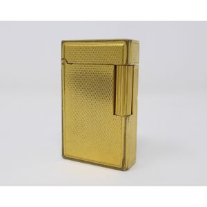 Accendino S.T. Dupont Paris vintage feuerzeug lighter placcato oro points de dia