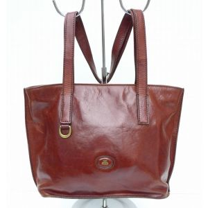 Borsa a spalla The Bridge vintage marrone in pelle da donna woman genuine leather