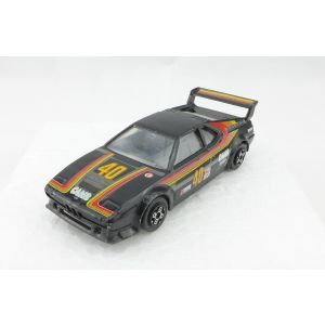 Burago bmw m1 black nera scala 1/43 made in italy vintage anni 80 90 macchinina macchina toy car model auto modellino