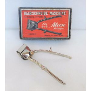 Alcoso solingen HAARSCHNEIDE-MASCHINE manual hairclipper rasoio manuale vintage