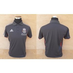 Liverpool FC Polo official product grey Adidas ORIGINAL Size Uk 38/40- I 5- j L