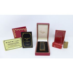 Accendino Cartier vintage anni 80 feuerzeug lighter gold plated