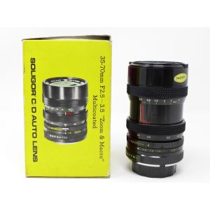Obiettivo lens Soligor 35-70 mm New F2.5/3.5 diameter 58mm for Minolta-MD camera reflex analog