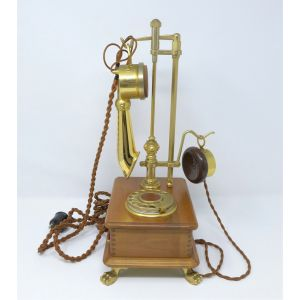 Telefono classico Telcer decotel a disco combinatore gold plated 18 K telephone from modernism da modernariato rare