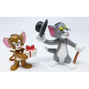 Tom e Gerry bully 1967 action figures vintage in pvc figurine tom & jerry 60's 5cm rubber puppets