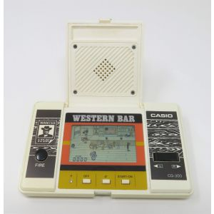 Casio western bar CG-300 handheld game & watch retrogames table top videogames