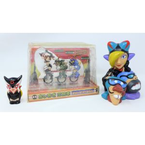 Action figures Yattaman anime giapponese banpresto imported from Japan anni 90 gashapon figures yattaman anime trio drombo miss dronio